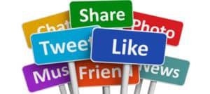 redes sociais opcoes